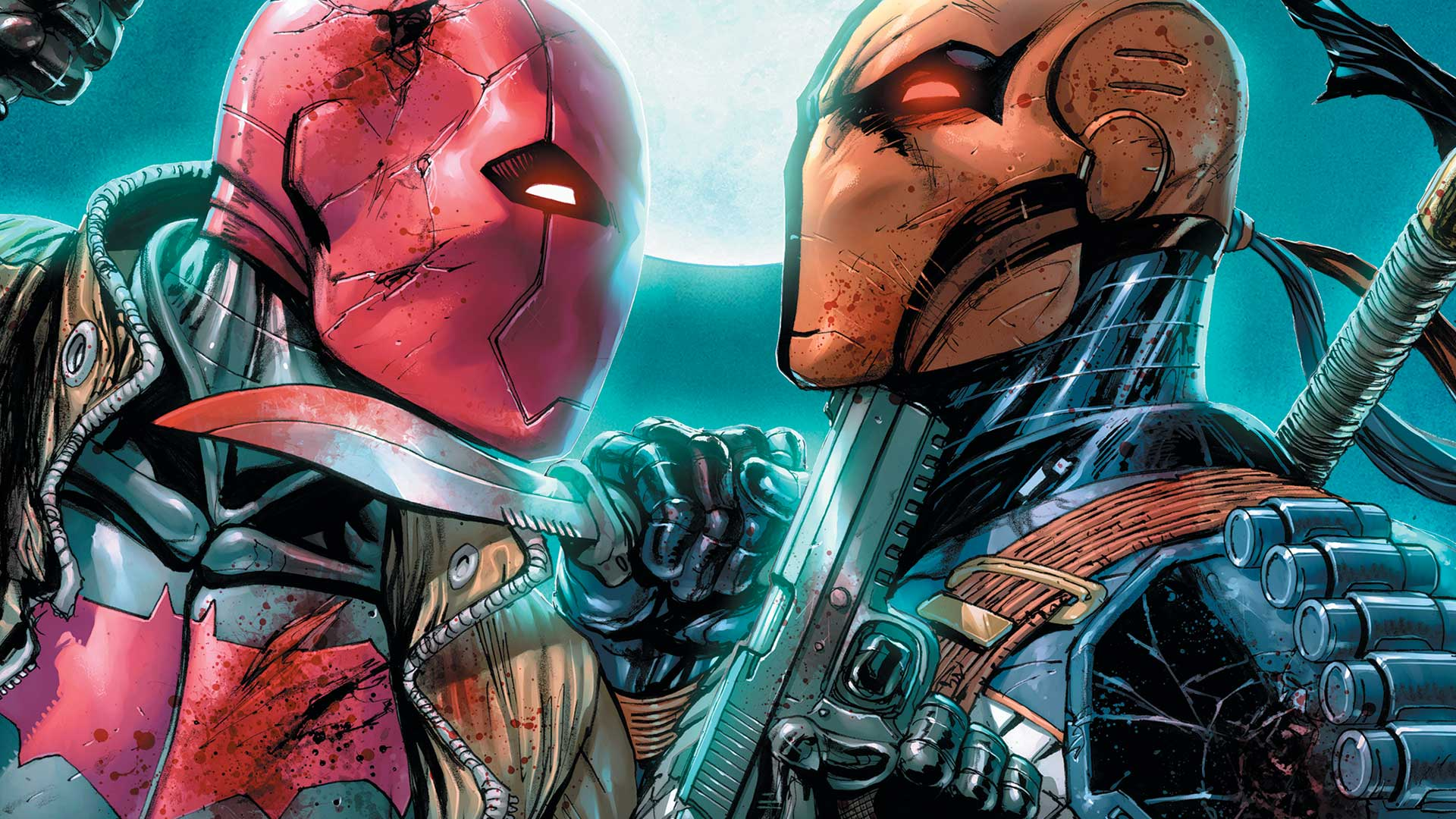 Red Hood Vs Deathstroke Full HD Wallpaper And Background Image