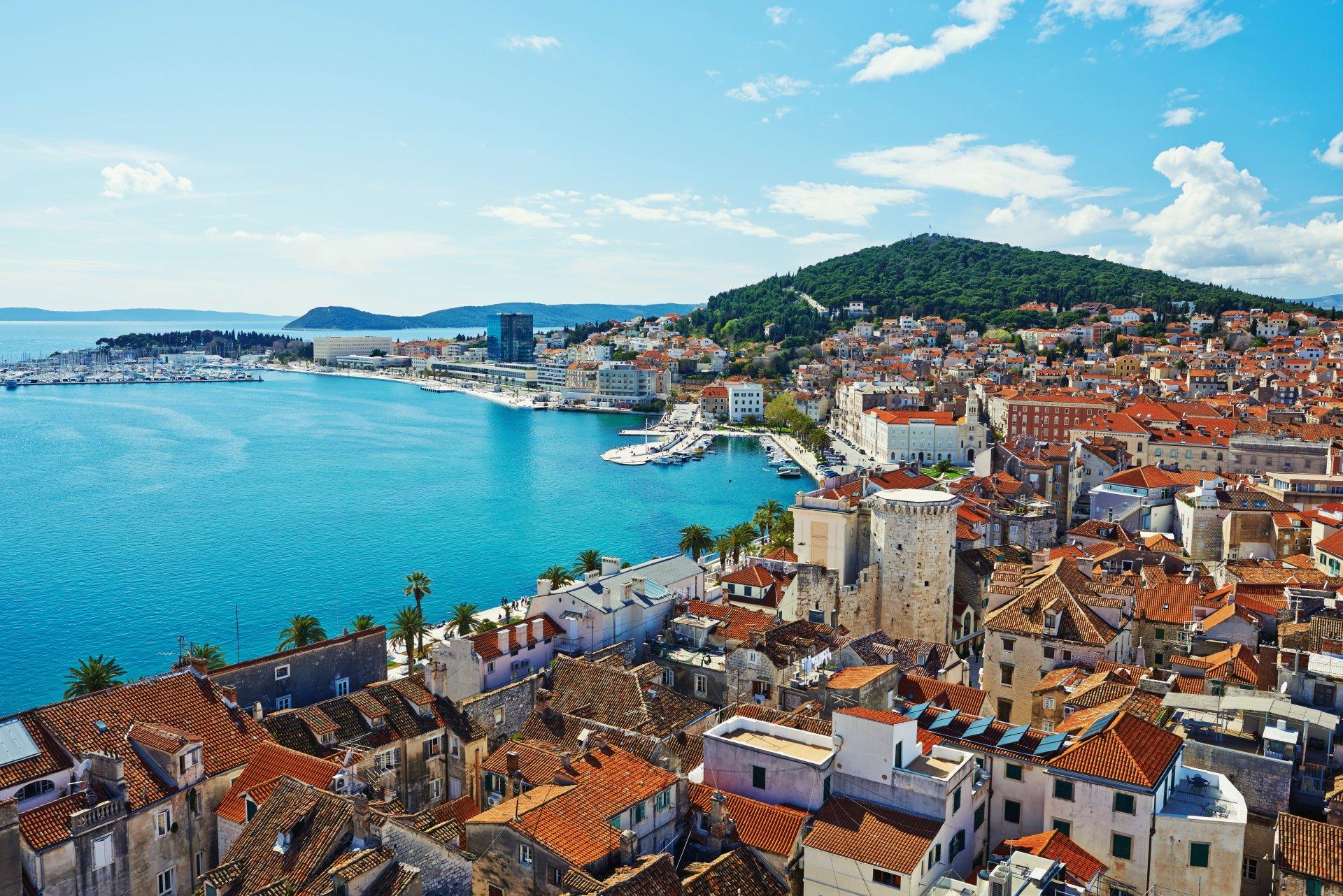 Man Made - City  House Town Coast Croatia Ocean Sea Wallpaper