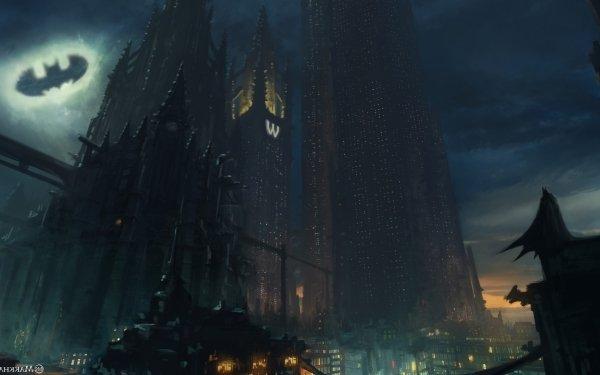 Comics Batman Bat-Signal Gotham City HD Wallpaper   Background Image