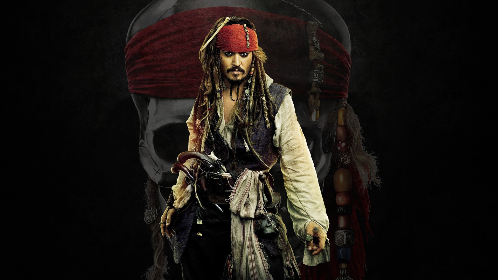 Movie - Pirates Of The Caribbean  Jack Sparrow Johnny Depp Wallpaper