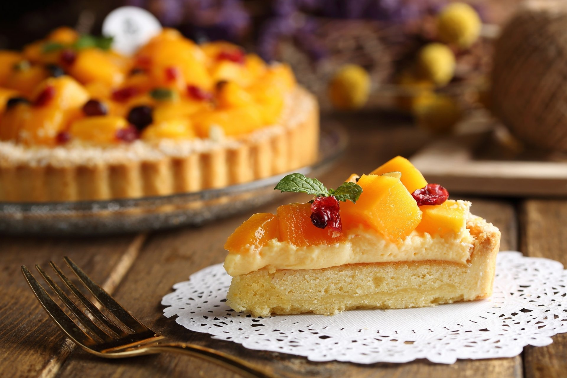Food - Pie  Pastry Dessert Fruit Mango Wallpaper