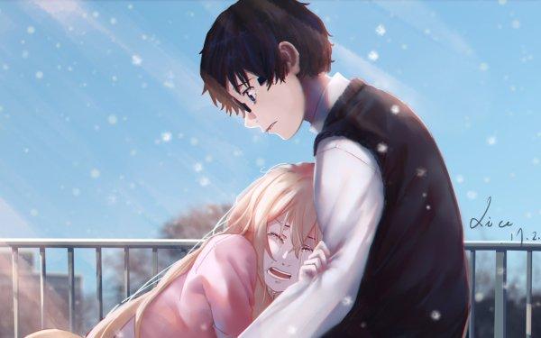 Anime Your Lie in April Kaori Miyazono Kousei Arima HD Wallpaper   Background Image