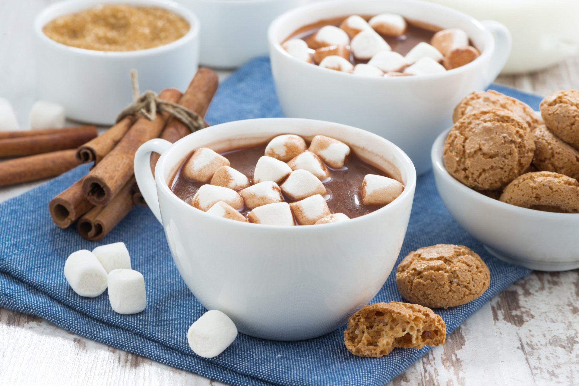 Food - Hot Chocolate  Cup Marshmallow Cookie Cinnamon Wallpaper
