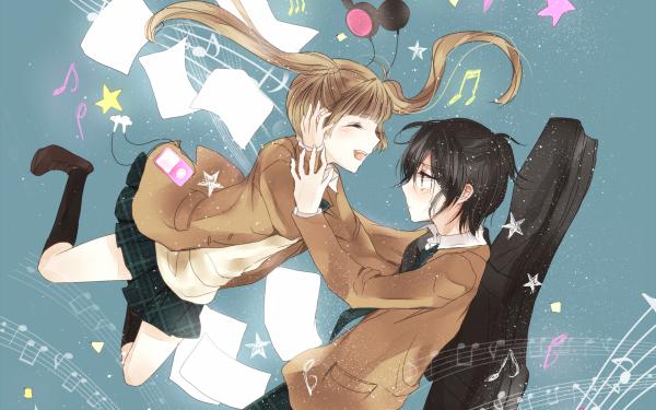 Anime Fukumenkei Noise Nino Arisugawa Kanade Yuzuriha HD Wallpaper | Background Image