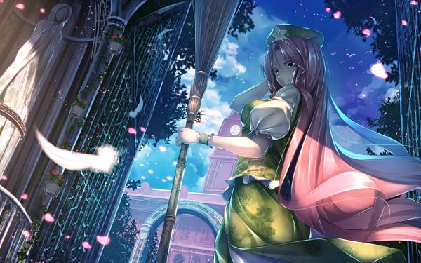 Anime Touhou Hong Meiling HD Wallpaper   Background Image