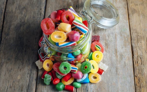 Food Candy Colors Jar HD Wallpaper | Background Image