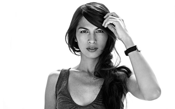 Celebrity Elodie Yung Actresses France Monochrome Brunette Actress HD Wallpaper | Background Image