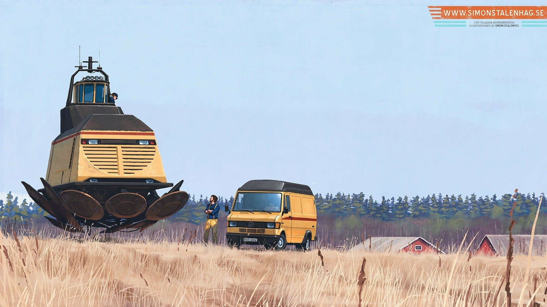 Sci Fi - Vehicle  Crops Floating Truck Wallpaper