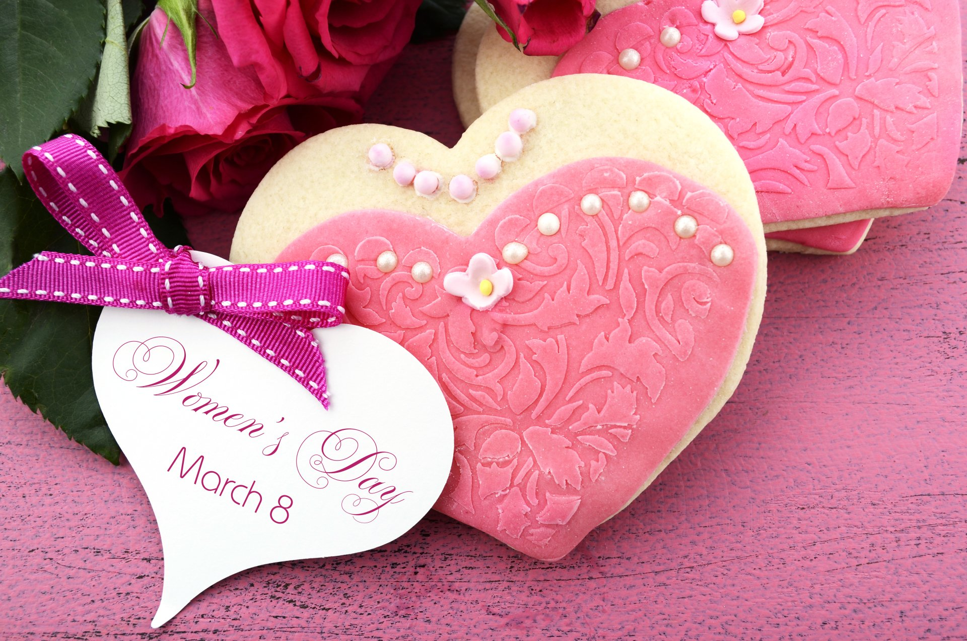 Feriados - Women's Day  Heart-Shaped Cookie Papel de Parede