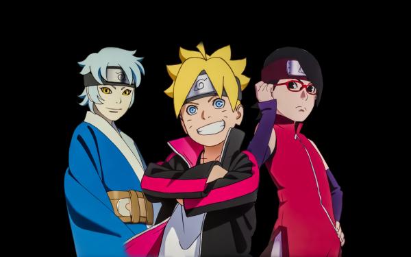 Anime Boruto Naruto Sarada Uchiha Boruto Uzumaki Mitsuki Papel de Parede HD | Plano de Fundo