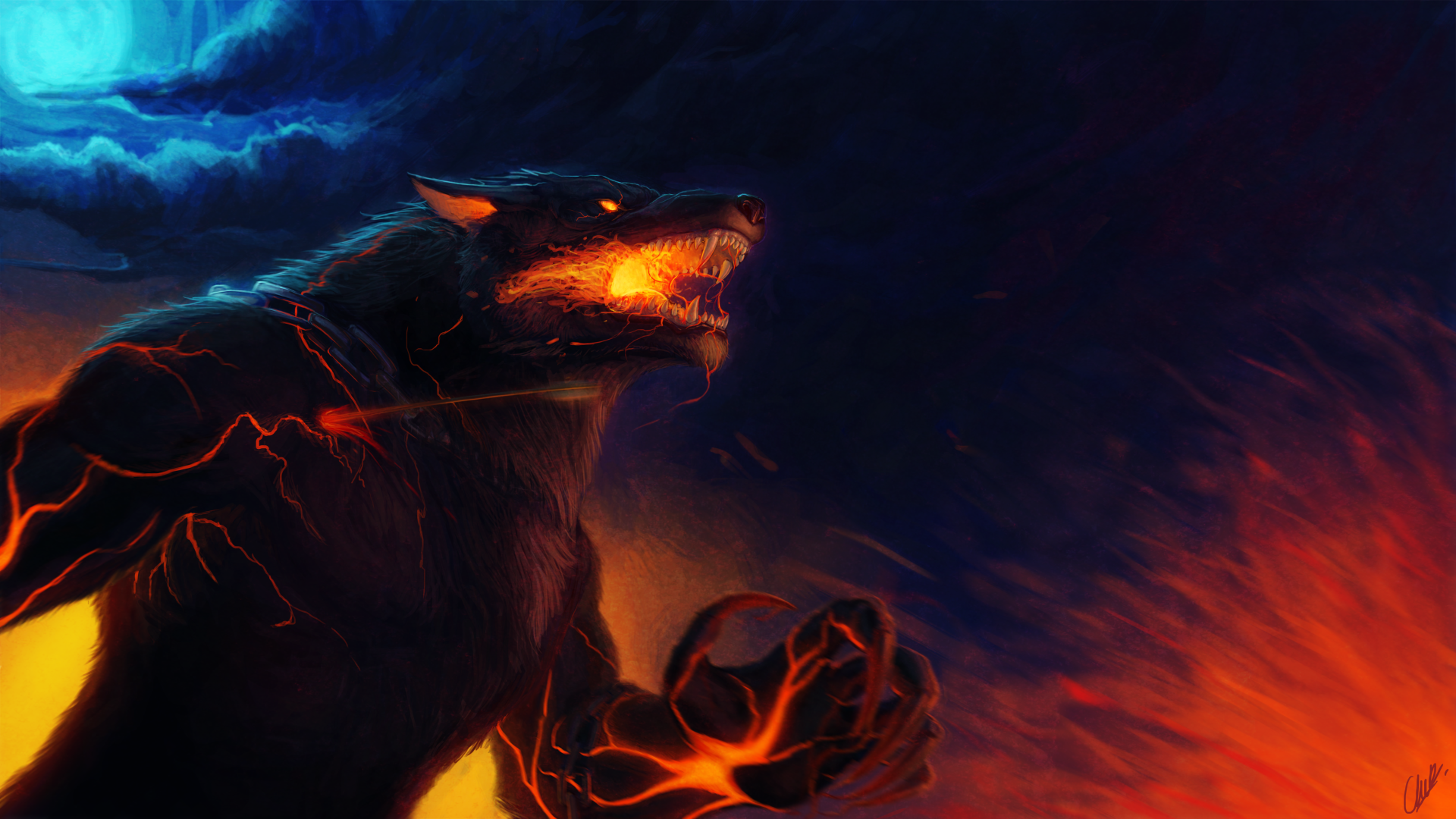 Video Game - Smite  Video Game Fenrir (Smite) Wallpaper