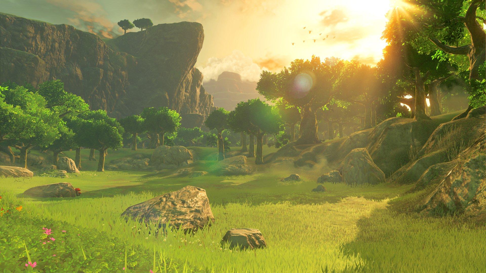 Video Game - The Legend of Zelda: Breath of the Wild  The Legend of Zelda Tree Sun Wallpaper