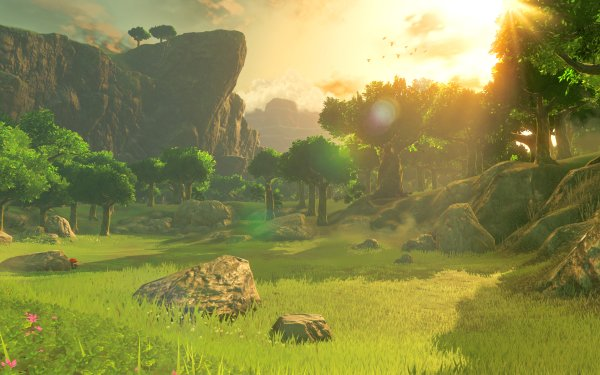 Video Game The Legend of Zelda: Breath of the Wild Zelda The Legend of Zelda Tree Sun HD Wallpaper   Background Image