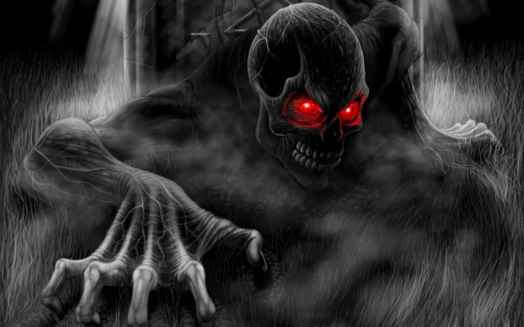 Dark - Skull  Creepy Dark Wallpaper