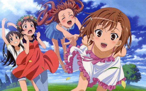 Anime A Certain Scientific Railgun A Certain Magical Index Mikoto Misaka Ruiko Saten Kuroko Shirai Kazari Uiharu HD Wallpaper | Background Image