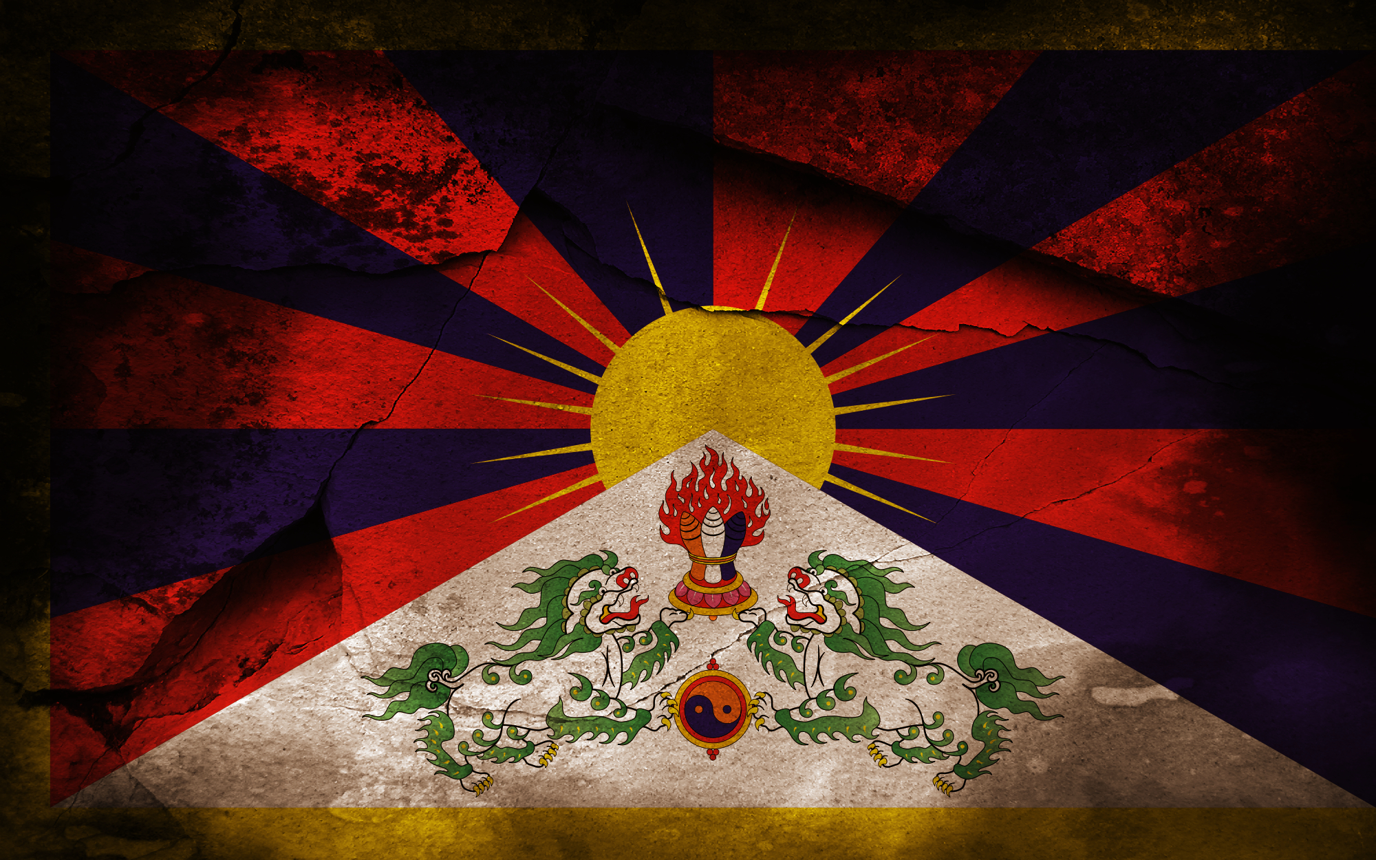 1 flag of tibet hd wallpapers | background images - wallpaper abyss