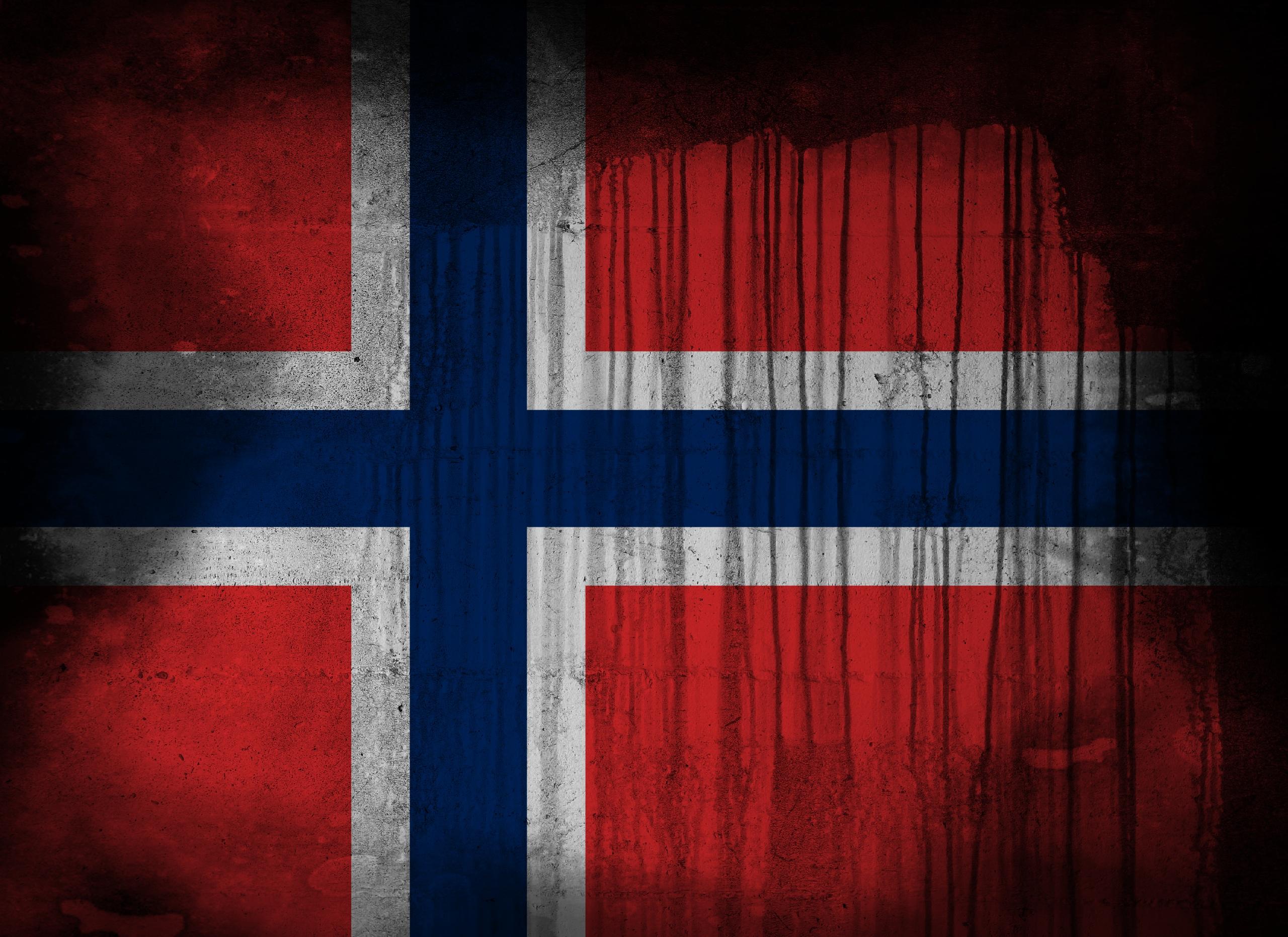 Diversen - Flag Of Norway  Achtergrond