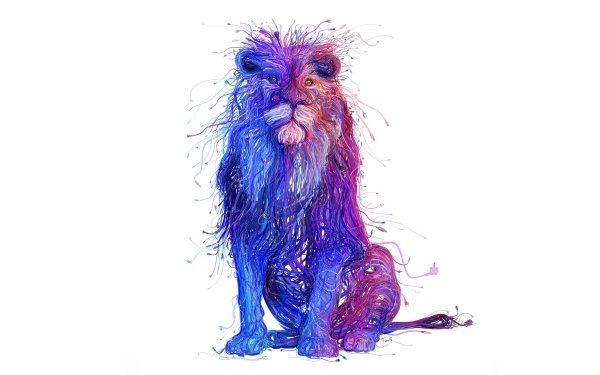 Animal Artistic Lion Colorful Big Cat HD Wallpaper | Background Image