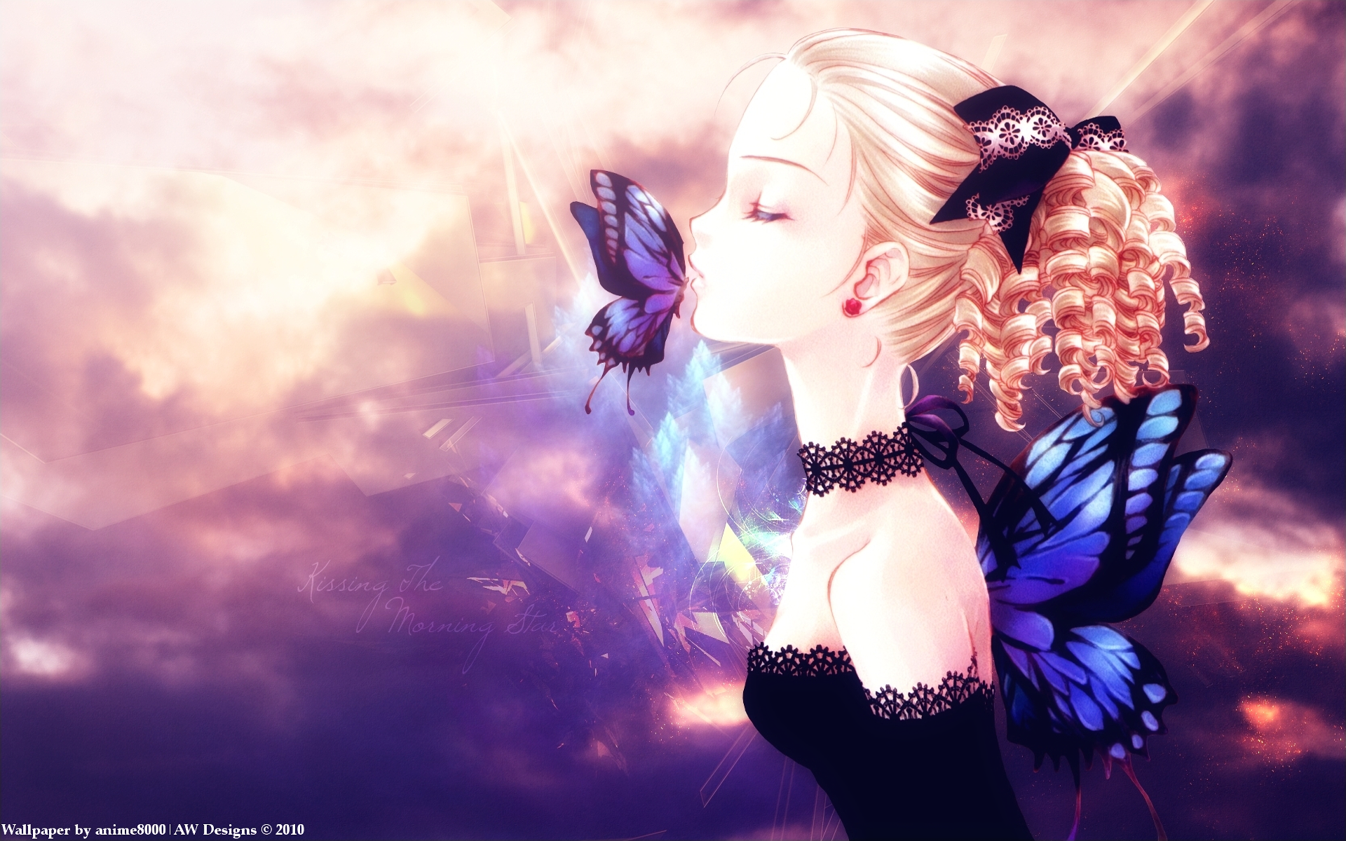 Anime Butterfly Fairy Full HD Wallpaper And Background Image
