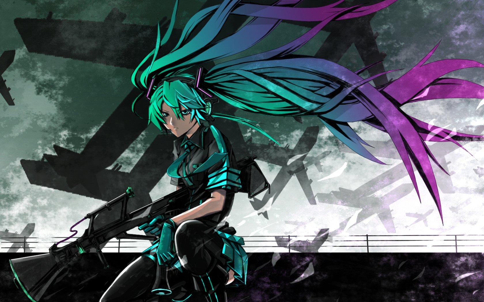 Anime - Vocaloid  Girl Anime Hatsune Miku Song Illustration Love is War  (Vocaloid) Wallpaper