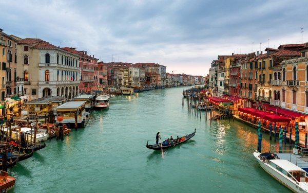 Man Made Venice Cities Italy Grand Canal Gondola Building Architecture HD Wallpaper | Background Image