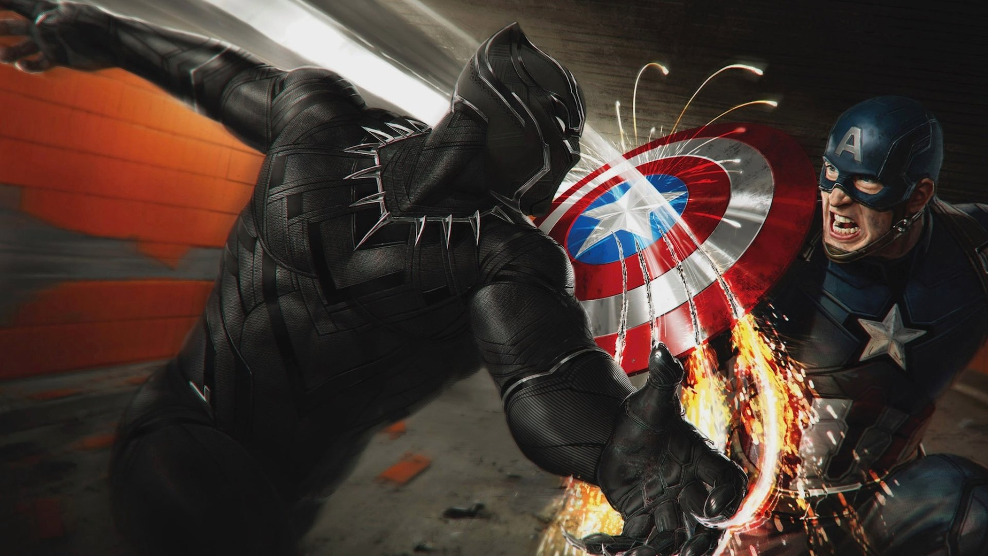 Movie - Captain America: Civil War  Black Panther (Marvel) Captain America Wallpaper