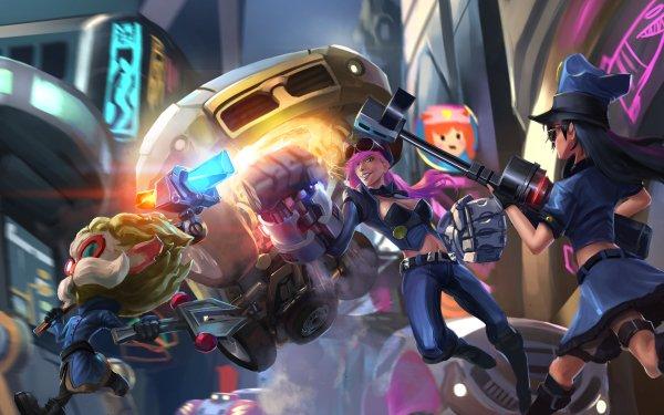 Video Game League Of Legends Heimerdinger Caitlyn VI HD Wallpaper | Background Image