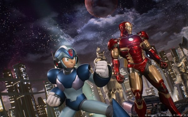Video Game Marvel vs. Capcom 3: Fate of Two Worlds Marvel vs. Capcom Mega Man X Iron Man HD Wallpaper | Background Image