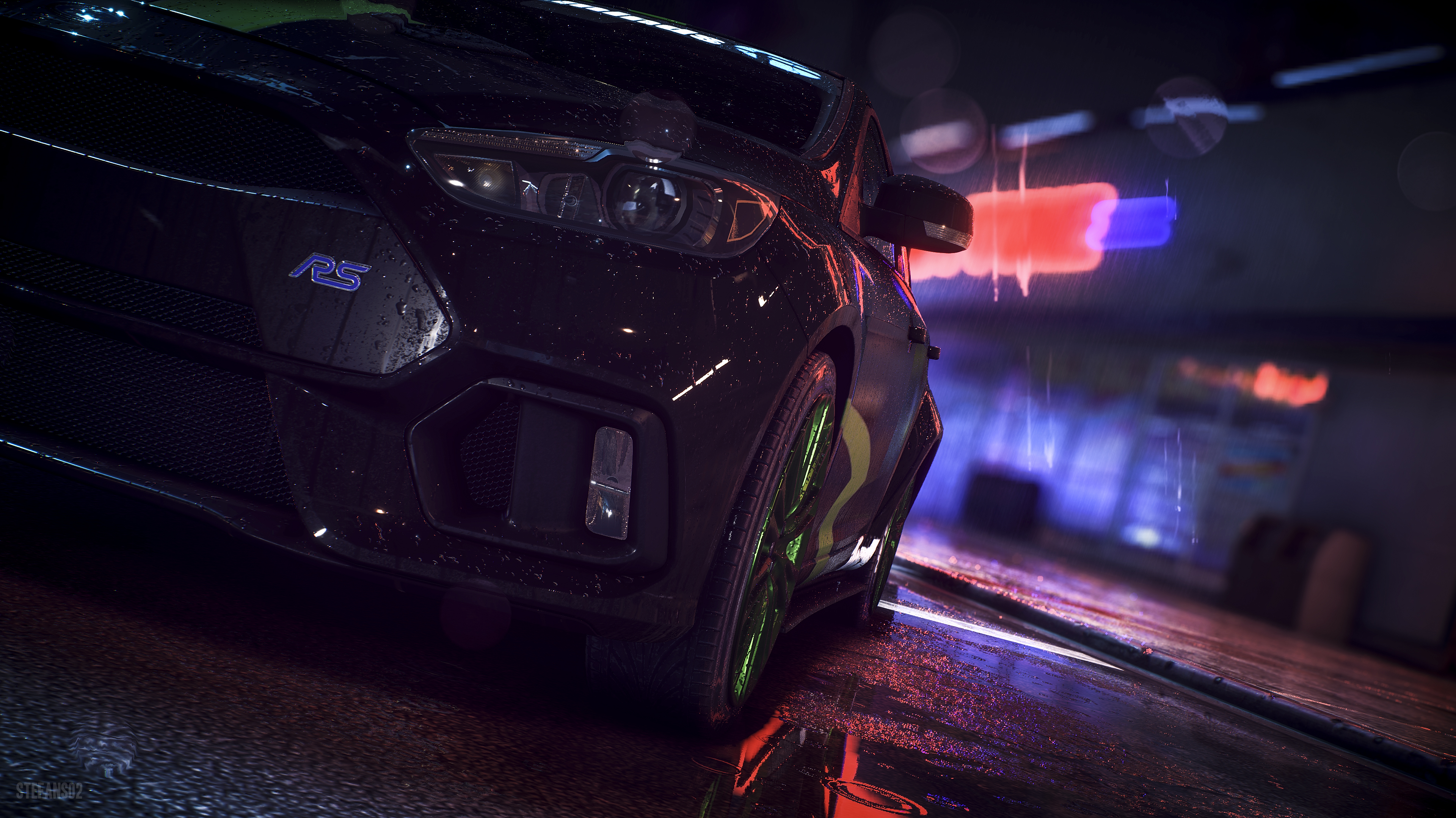 Need For Speed Ford Focus Rs 2016 4k Ultra Fondo De