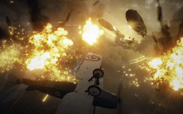 Video Game Battlefield 1 Battlefield Warplane Fire Fight Sky HD Wallpaper | Background Image