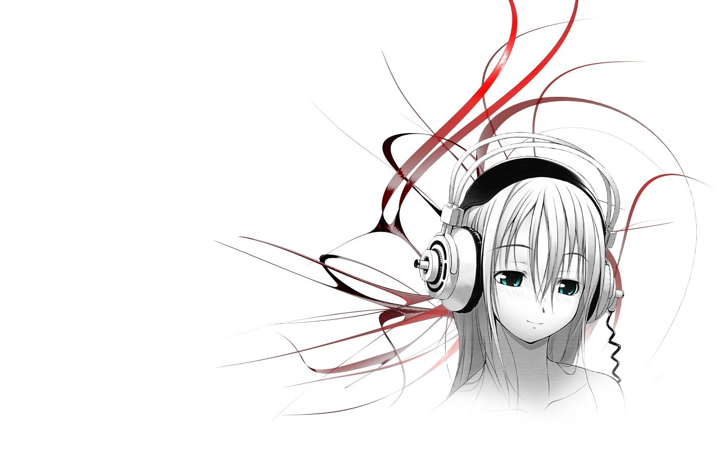 Artistic - Women  Woman Headphones Cute Artistic Wallpaper