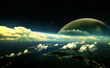 Science-Fiction - Planetenaufgang Wallpapers and Backgrounds ID : 83101