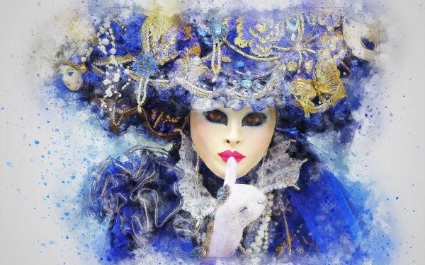 Women Artistic Woman Mask Artwork HD Wallpaper | Background Image