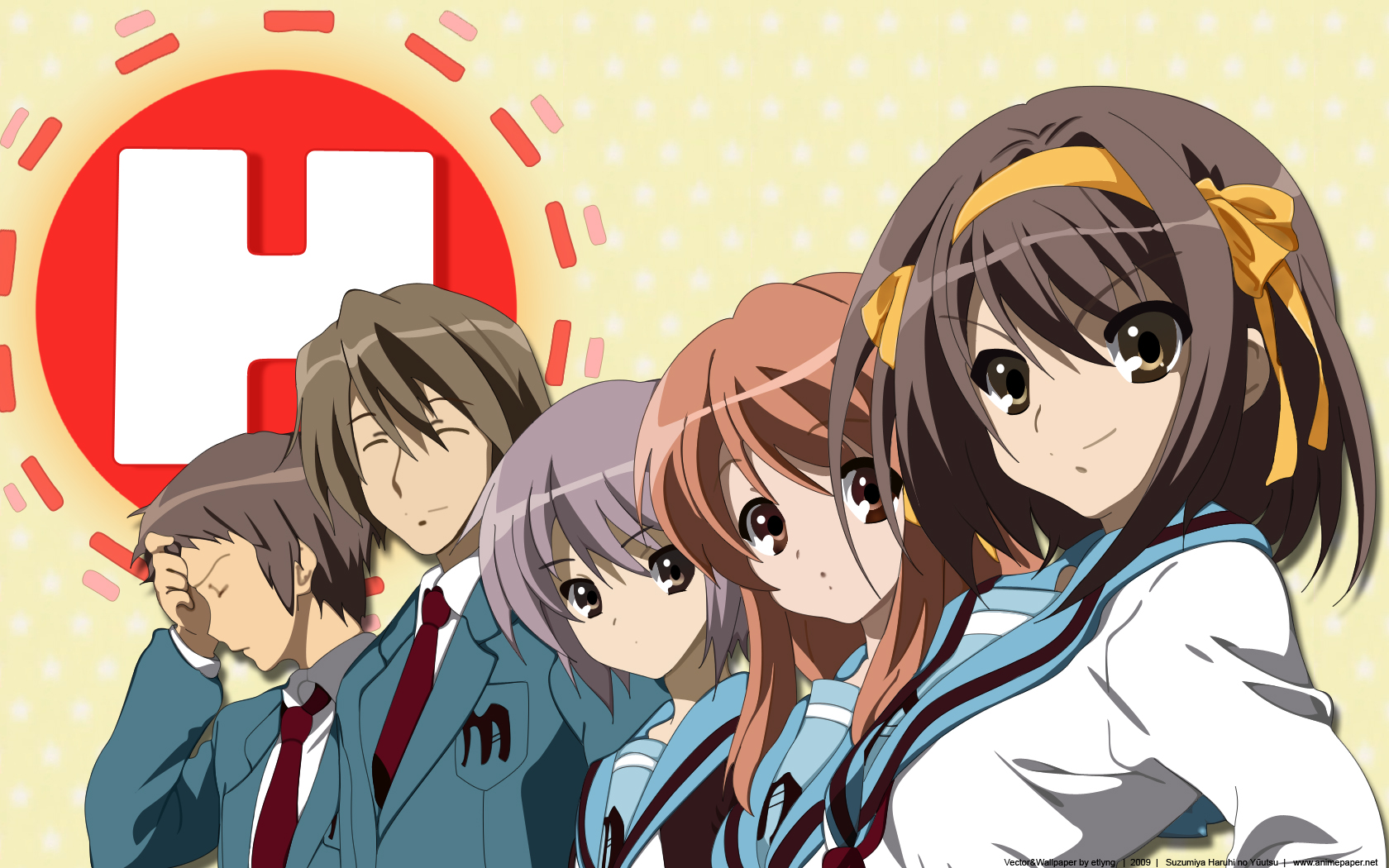 Anime - The Melancholy Of Haruhi Suzumiya Anime Wallpaper