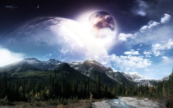 Sci Fi - Planet Rise Wallpapers and Backgrounds ID : 83811
