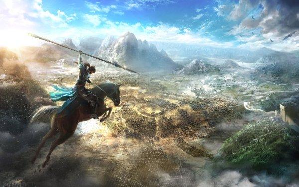 Jeux Vidéo Dynasty Warriors 9 Bataille Guerrier Spear Cheval Paysage Army Fond d'écran HD | Image