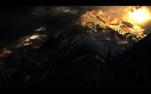 Earth Mountain Mountains Sun HD Wallpaper | Background Image