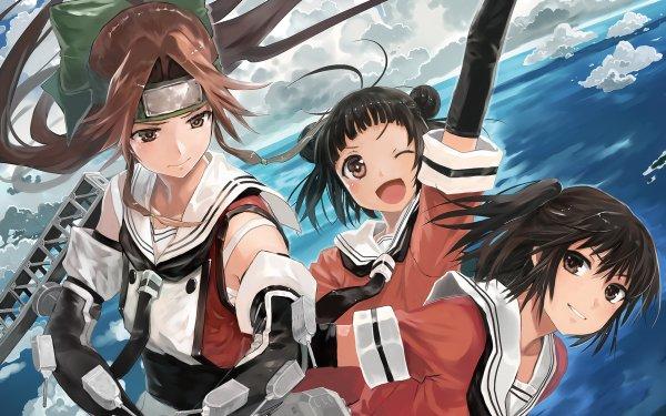 Anime Kantai Collection Naka Sendai Jintsuu HD Wallpaper   Background Image