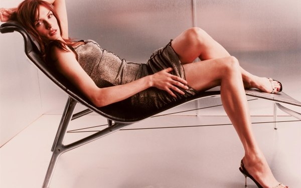 Women Famke Janssen Actresses Netherlands Actress Brunette Brown Eyes Dutch Dress HD Wallpaper   Background Image