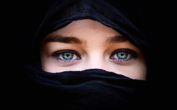 Women Eye Hijab Model HD Wallpaper   Background Image