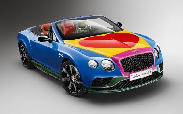 Vehicles Bentley Continental GT V8 Bentley Bentley Continental GT Convertible Pop Art HD Wallpaper | Background Image