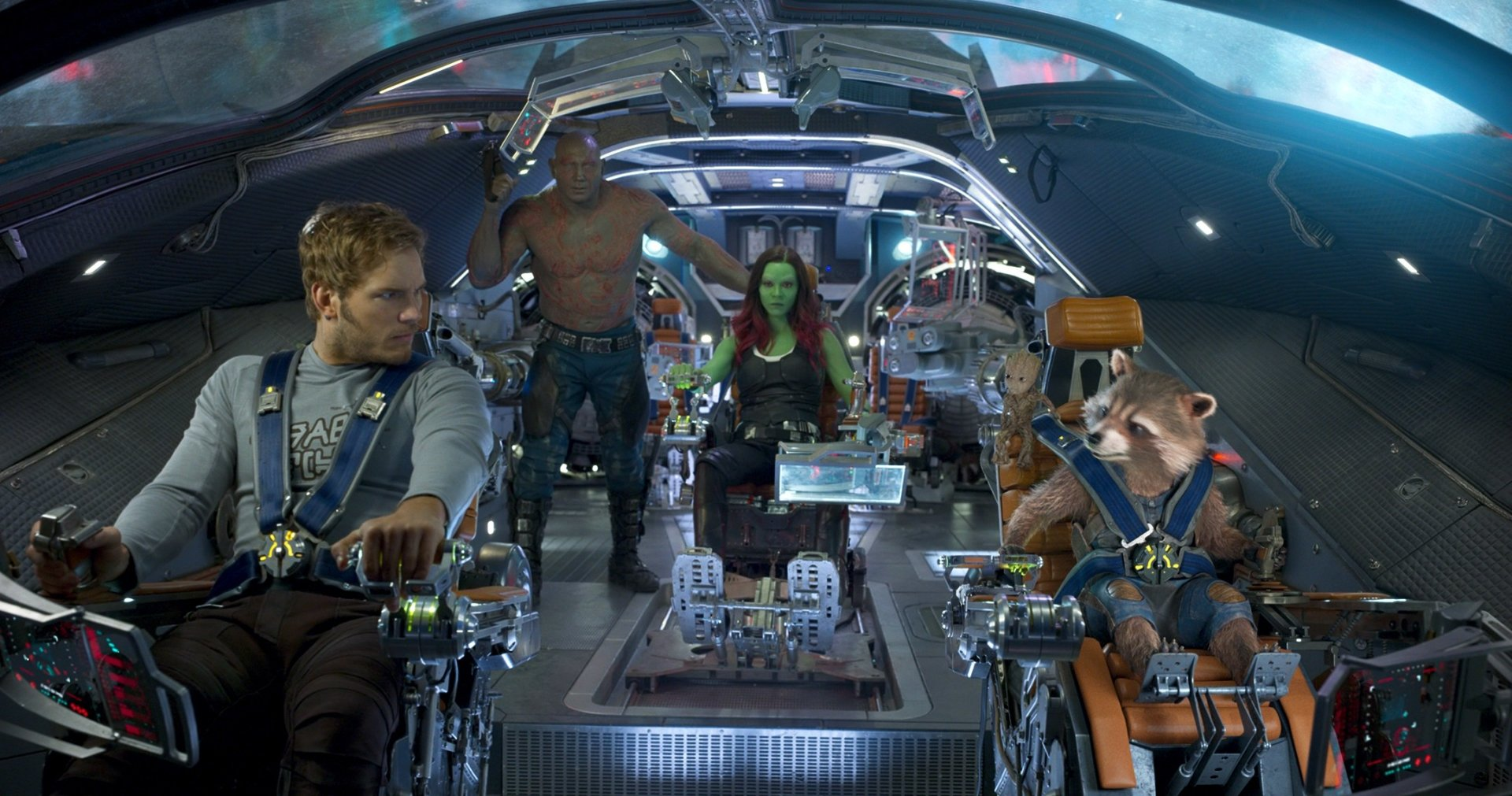 Movie - Guardians of the Galaxy Vol. 2  Star Lord Gamora Rocket Raccoon Drax The Destroyer Baby Groot Chris Pratt Wallpaper
