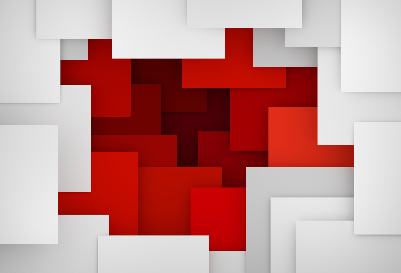 Fondo Fondos Abstractos Rojo Y Amarillo: Geometría 5k Retina Ultra Fondo De Pantalla HD