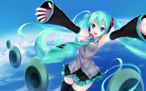 Anime Vocaloid Woman Hatsune Miku HD Wallpaper   Background Image