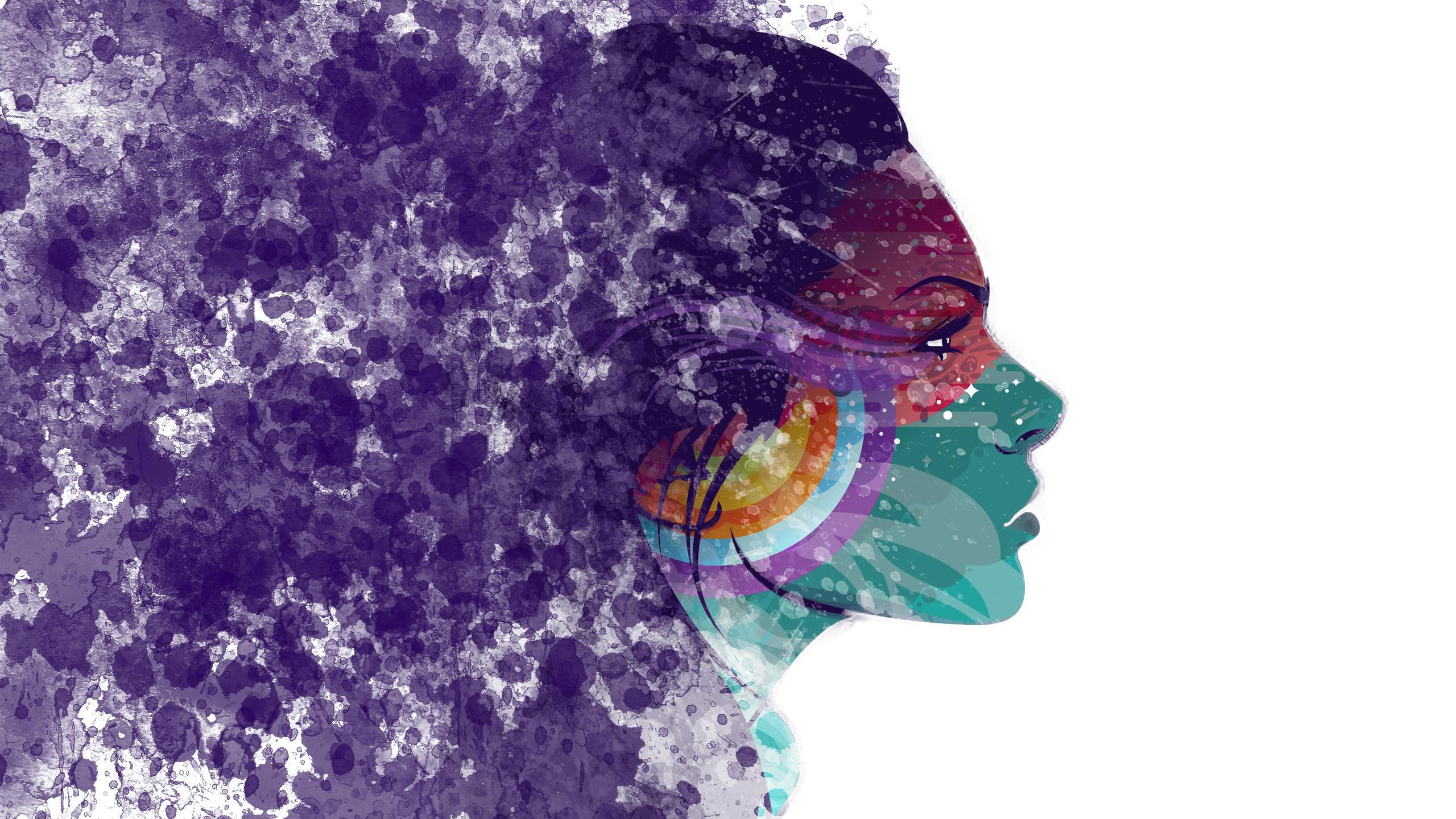 Girl-splatter HD Wallpaper | Background Image | 2560x1440