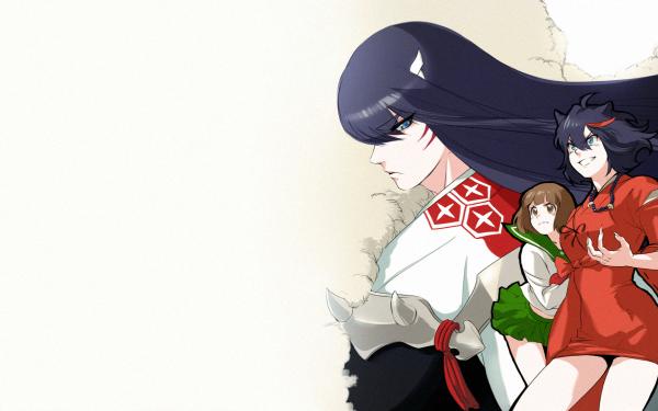 Anime Crossover Ryūko Matoi Satsuki Kiryūin Mako Mankanshoku InuYasha Kill La Kill HD Wallpaper | Background Image