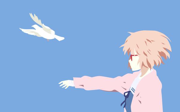 Anime Beyond the Boundary Mirai Kuriyama Kyoukai no Kanata Minimalist HD Wallpaper | Background Image