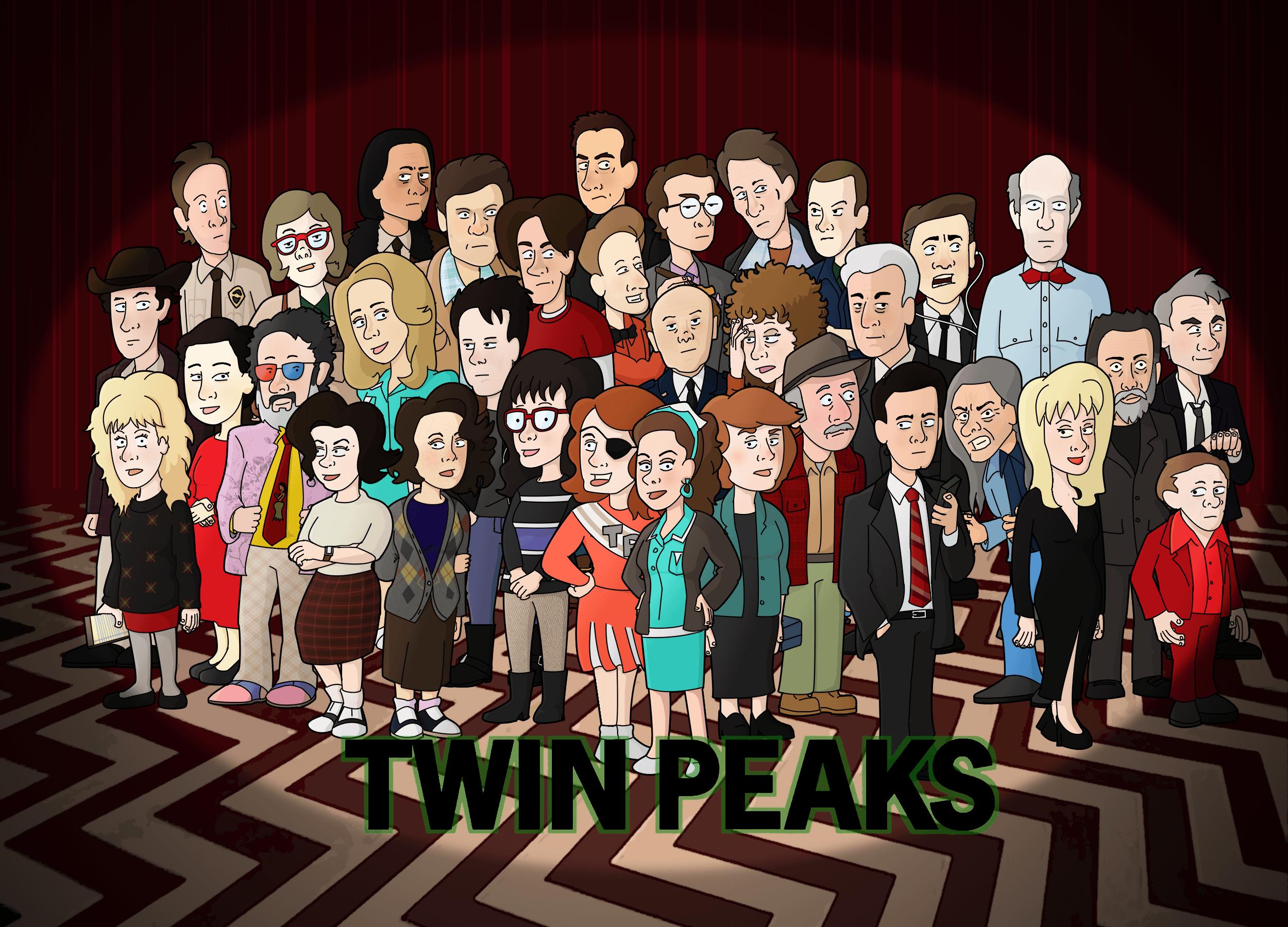 Twin Peaks Cast as Cartoon Characters HD Wallpaper ...