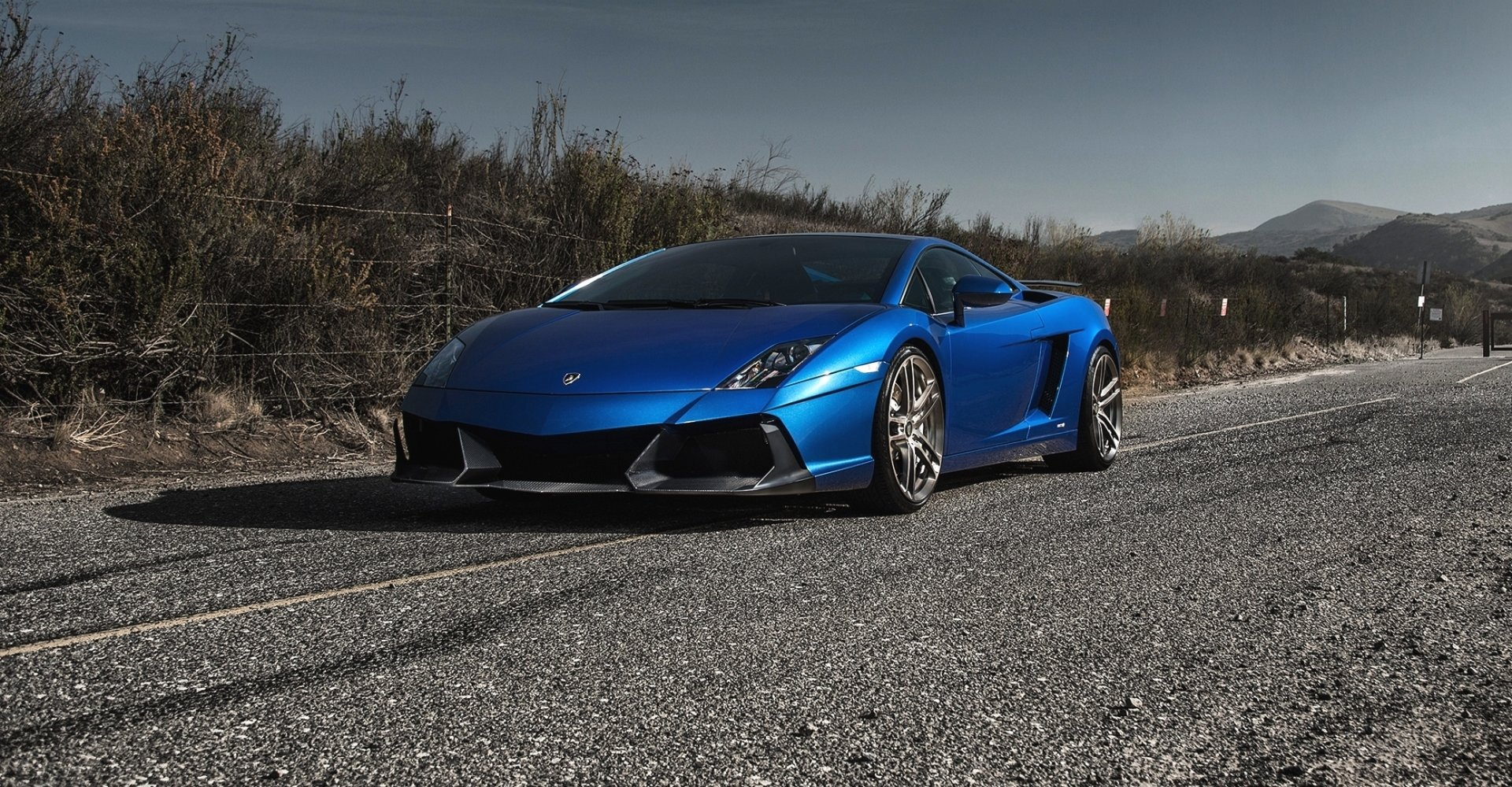 Vehicles - Lamborghini Gallardo  Car Lamborghini Vehicle Blue Car Sport Car Supercar Wallpaper
