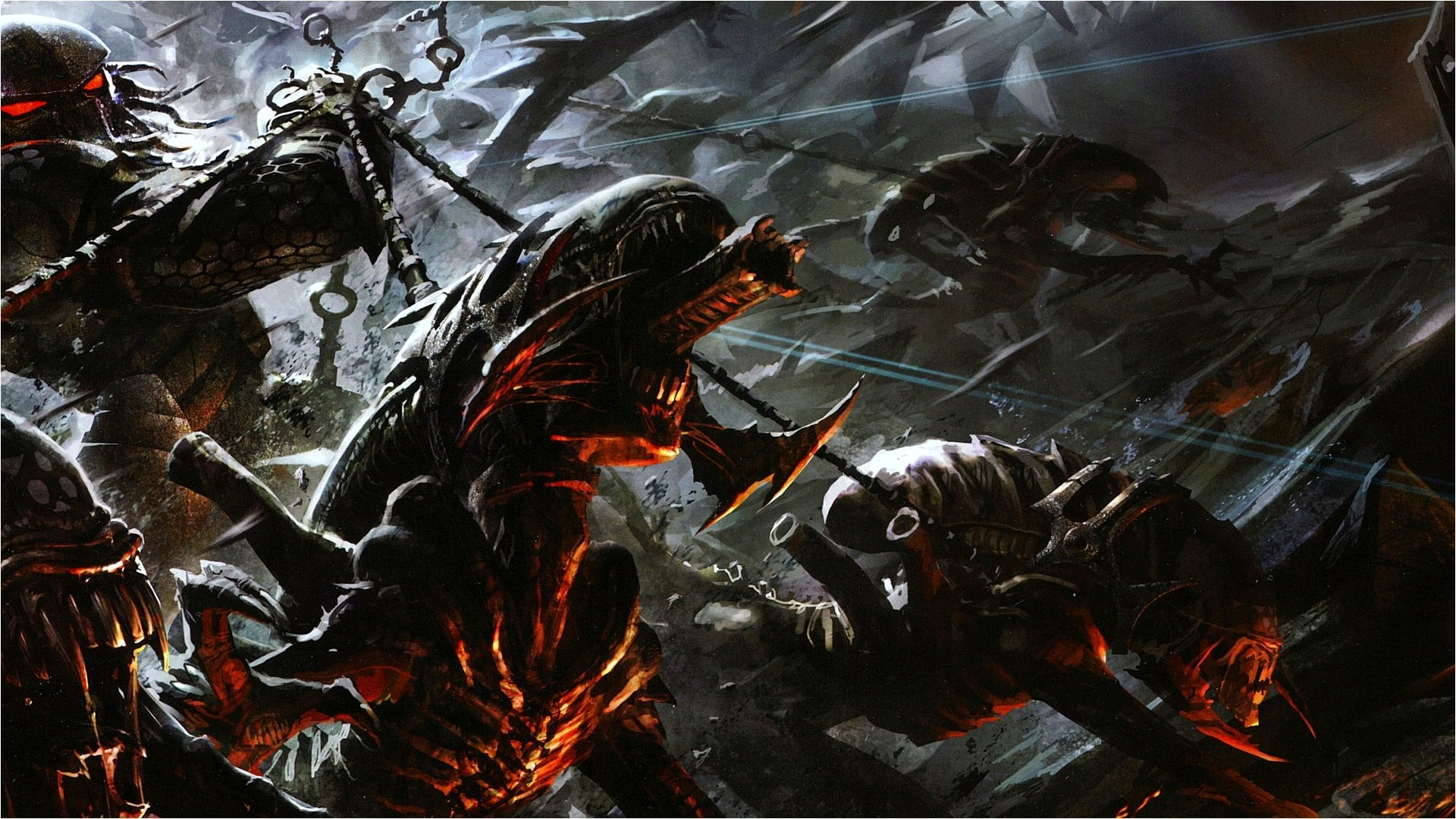 Alien Chess Predator HD Wallpaper